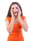 Surprised woman Royalty Free Stock Photos