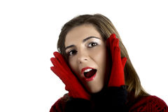 Surprised woman Stock Photography