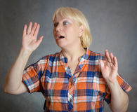 Surprised woman. Stock Images