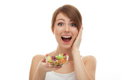 Surprised woman on diet Stock Photos