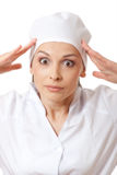 Surprised  woman doctor or nurse Royalty Free Stock Photo
