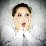 Surprised woman. Stock Photos