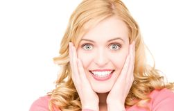 Surprised woman face Royalty Free Stock Image