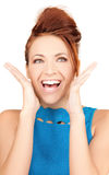 Surprised woman face Stock Images