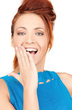 Surprised woman face Royalty Free Stock Photo
