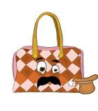 Surprised woman handbag cartoon Stock Images