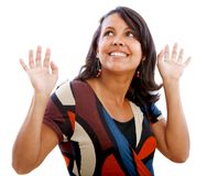 Surprised woman isolated Stock Image