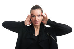 Surprised woman isolated Royalty Free Stock Photo