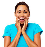 Surprised Woman With Mouth Open Stock Photo