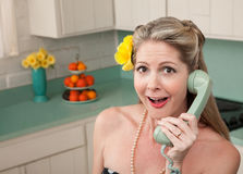 Surprised Woman On Phone Stock Image