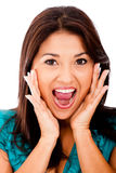 Surprised woman portrait Royalty Free Stock Images