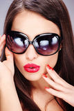 Surprised woman with Sun glasses Stock Image