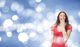 Surprised woman Stock Image
