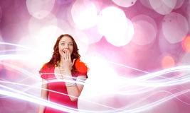 Surprised woman Stock Images