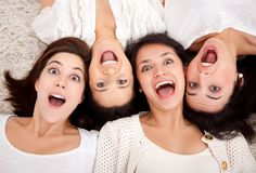 Surprised women faces Royalty Free Stock Photos