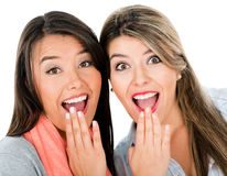 Surprised women Royalty Free Stock Photos