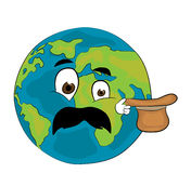 Surprised World globe cartoon Royalty Free Stock Photography