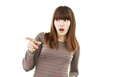 Surprised young beautiful teen girl Stock Photo