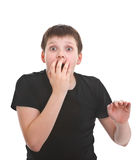 Surprised young boy Royalty Free Stock Photos