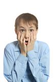 Surprised young boy Stock Photography