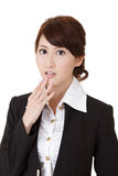 Surprised young business woman Royalty Free Stock Images