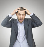 Surprised young businessman Royalty Free Stock Images