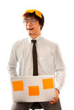 Surprised young businessman Royalty Free Stock Photo