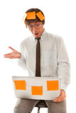 Surprised young businessman Stock Photos