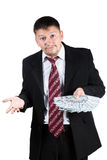 Surprised young businessman Royalty Free Stock Image