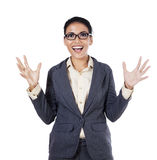 Surprised young businesswoman Royalty Free Stock Images