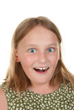 Surprised young girl Stock Photos