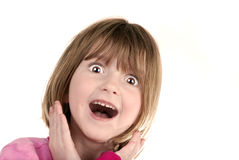 Surprised Young Girl Stock Images