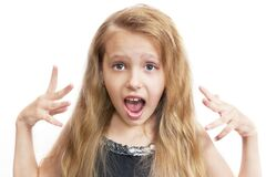 Free Surprised Young Girl Keeping Her Mouth Wide Opened Royalty Free Stock Photos - 186569458