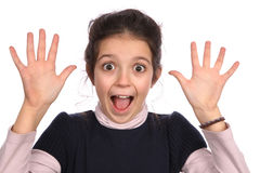 Surprised young girl Royalty Free Stock Photography