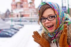Surprised young lady Royalty Free Stock Photography