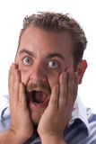 Surprised young man Royalty Free Stock Photo