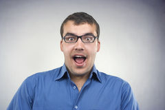 Surprised young man close-up Royalty Free Stock Images