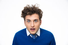 Surprised young man looking at the camera Royalty Free Stock Image