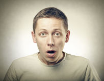 Surprised Young Man Royalty Free Stock Images