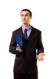 Surprised young man stand in formal clothes Royalty Free Stock Image
