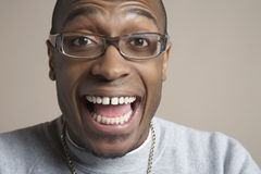 Surprised Young Man Wearing Glasses Royalty Free Stock Photo