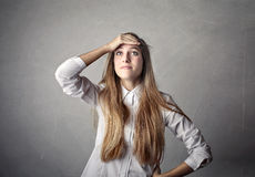 Surprised young woman Royalty Free Stock Photo