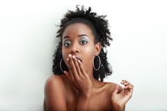 Surprised young woman Stock Image