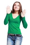 Surprised young woman Stock Images