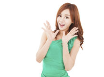 Surprised young woman Royalty Free Stock Images