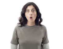 Surprised young woman Royalty Free Stock Photography