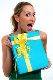 Surprised with your gift Royalty Free Stock Photo