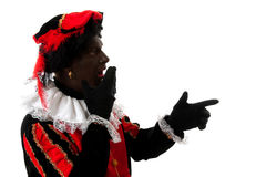 Surprised Zwarte Piet ( black pete) Stock Photography
