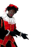 Surprised Zwarte piet ( black pete) typical Dutch Stock Photos