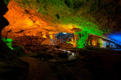 Surprising Cave Interior, Halong Bay Royalty Free Stock Images